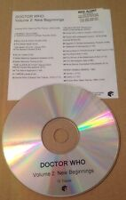 Doctor Who At The BBC Radiophonic Workshop Volume 2 New Beginnings Promo Cd Rare