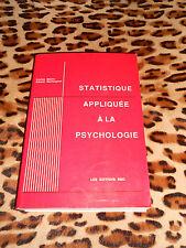 STATISTIQUE APPLIQUÉE À LA PSYCHOLOGIE - Louise Martin, Gérald Baillargeon, 1989
