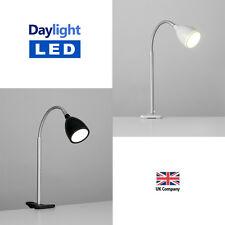 Daylight LED Clamp Clip On Chrome Reading Craft Table Desk Lamp Spot Light Lamps