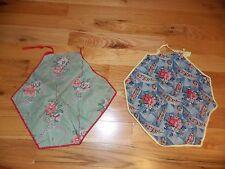 Vintage Fabric Pillowcase Pair Tagged Curb Service Cushions Handmade