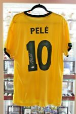 PELE Autographed/Signed Yellow Brazil Soccer Jersey PSA DNA Authentic