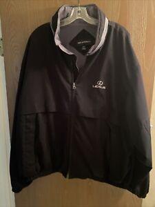 Lexus Jacket Microfiber Full Zip Hidden Hood Port Authority Black XXL