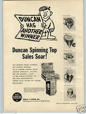 1963 PAPER AD Duncan Store Display Tops Dr. Kildare Toy Doctor Stethoscope Amsco