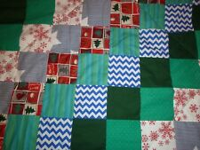 patchwork sofa throw/quilted single bed cover/blue/green/red/christmas NEW