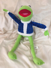 Kermit the Frog Stuffed Plush Doll Blue Christmas Suit Toy Factory Muppets