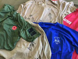 5 X LARGE ADF/ NZDF COOL UNDERSHIRTS  DEAL