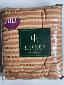 NEW Ralph Lauren FULL Bedskirt HAWK SPRINGS Red Stripe