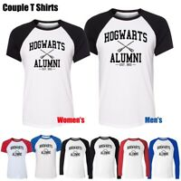 Women's Men's Hogwarts Alumni EST.993 Desing Graphic Tee Couples T-Shirt Tops