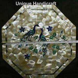 Random Art Marble Customize Table Top Mop Peacock Art Wedding Gift For Her Decor