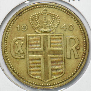 1922 or 1940 Iceland 10 Aurar coin Nordic red cross Reykjav\u00edk ...