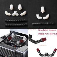 Simulated Engine Intake Air Filter Kit Pour 1/10 RC Crawler TRX4 Car Bronco 2019