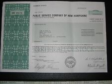 PUBLIC SERVICE CO OF NEW HAMPSHIRE STOCK CERTIFICATE ( HARD TO FIND )