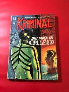 KRIMINAL N° 55  LIRE 150 DRAMMA IL COLLEGIO 1965