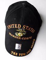 US MARINE CORPS THE FEW THE PROUD USMC MARINES EMBROIDERED BASEBALL CAP HAT