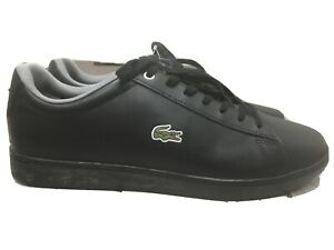 Lacoste Hydez Sneakers Black/Grey Men's Low Top Shoes Sz: 12 New With Tag No Box