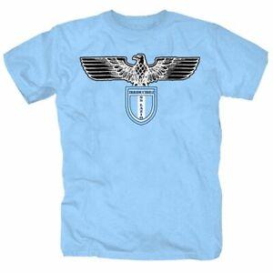 Lazio Rom Curva Nord Ultras 87 IRR Adler Roma Italien T-Shirt S-XXL skyblue