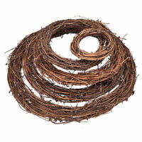 Natural Dried Rattan Wreath Xmas Garland Door Home Bar Wall Chic Decor 5 Sizes