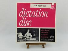Vintage DDC Dictation Disc Shorthand Speed Development 45 RPM RECORDS Set No 44