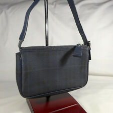 Authentic Rare Burberry Navy Haymarket Check Mini Handbag Purse Clutch Ex Con