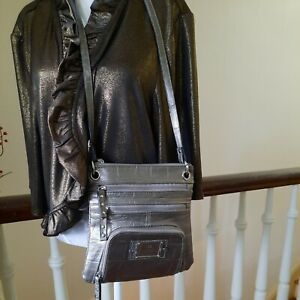 NWOT Nicole By Nicole Miller Small Crossbody Faux Animal SkinTote/ Purse.5-w