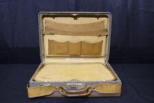 VINTAGE HARTMANN LUGGAGE Brown Tweed Belting Briefcase/ Luggage With Combo Lock