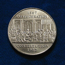 CANADA Canadian Constitution 1982 NICKEL 'silver' DOLLAR birthday present BU