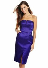 Badgley Mischka Royal Purple Strapless Tulip Cocktail Dress Size 4 NWT $195