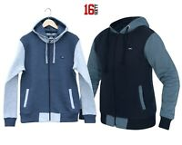New Mens Plain Coloured Zip Up Hoodie Hooded Jacket Warm Sweatshirt Xmas Tops