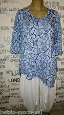eleganter leichter Strick-Pullover blau/weiss  Gr. 4 (48/50) OPHILIA, NEU SALE %
