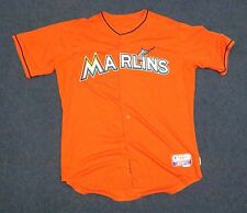 Miami Marlins GAME USED JERSEY Opening Day MLB AUTHENTIC Baker Florida Baseball