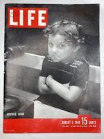 1946 Aug 5, LIFE Magazine VG Juvenile Junior Great Vintage Ads