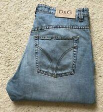 Mens Dolce & Gabbana straight leg distressed blue denim jeans W 36 L 31