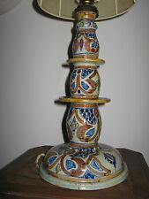 Grand bougeoir marocain maghreb Safi orientaliste Maroc Mauresque monté en lampe