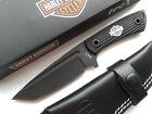 Harley Davidson Tec X Fixed Blade Bowie Knife Leather Sheath Biker Motorcycle