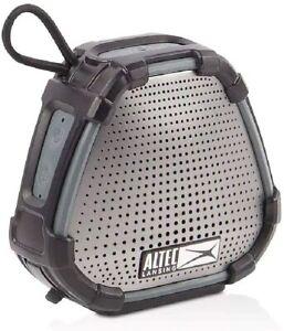 Altec Lansing Versa 2 Go Voice Assistant Waterproof Portable Smart Speaker Blk