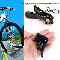 Multi-use Connector Head Tyre Air Pumps FV AV Valves Inflator Pump Nozzle//Clips