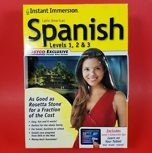Instant Immersion Spanish Levels 1, 2 & 3 PC & MAC - CDs DVD MP3 Learning Tools