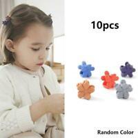 10X Kids Girls Candy Colour Hairpins Mini Claw Hair Clamp Flower Clips Acce G9N0