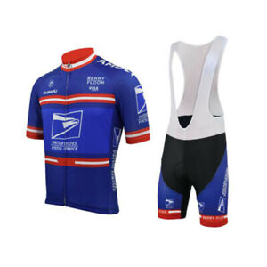 Retro United States Postal Service USPS Cycling Jersey and  Bib Short Set