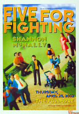 Five for Fighting Poster 2002 Apr 25 New Fillmore F518