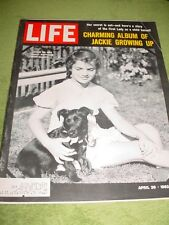 LIFE MAGAZINE APRIL 26 1963 JACKIE KENNEDY ALBUM HORNUNG