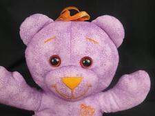 BIG PURPLE DRAW ON ME DOODLE TEDDY BEAR ORANGE HAIR BE CREATIVE PLUSH STUFFED