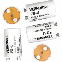 10x SupaLec Fluorescent Light Glow Starter Switches 4-65W / 220-240v 2 Pin