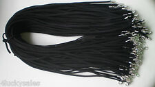 Bulk lot 10 pcs black Suede Leather String 60cm Necklace Cords