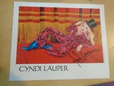 original Cyndi Lauper-Autogrammkarte, International, Musik