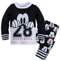 Disney Store Mickey Mouse PJ Pals Pajamas Baby Boys Size 0 3 6 9 12 18 24 Months