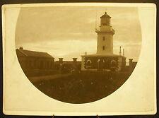Photo c1900 Un Phare Bretagne ?? Lighthouse Photographie ancienne 18 cm