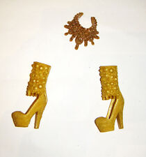 Barbie Doll Sized Shoes/Necklace Accessories For Barbie Dolls ac299