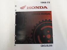 1968 1969 1970 1971 1972 1973 CB350 CL350 SL350 Service Shop Repair Manual NEW