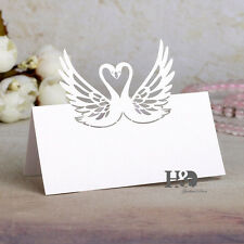 60pcs Swan Cut Name Place Card Party Table Mark Decor Pearlescent Paper Card